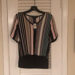 NWT Tommy Hilfiger striped short sleeve top